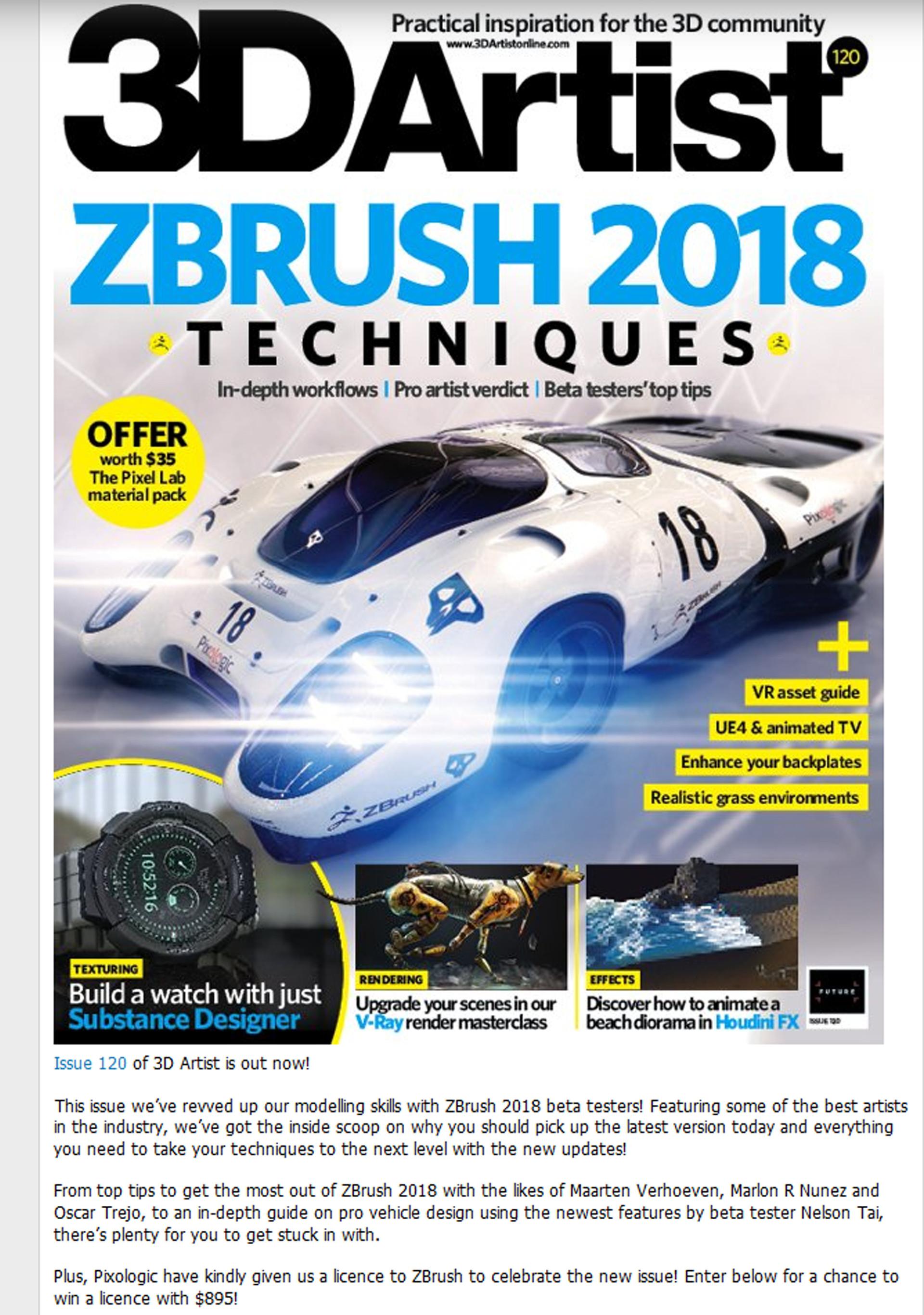 Breakdown in 3D Artist Issue 120