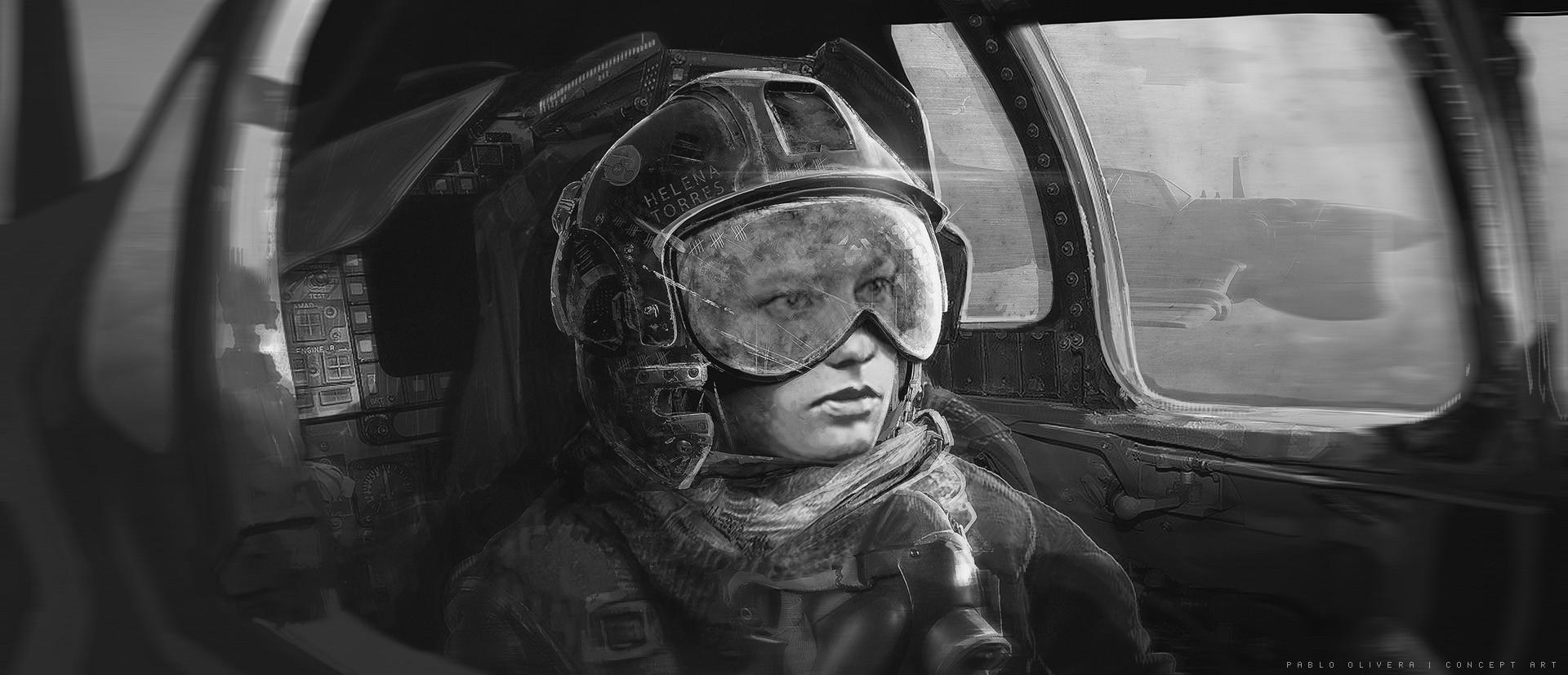Pablo olivera helena pilot airplane concept art 05