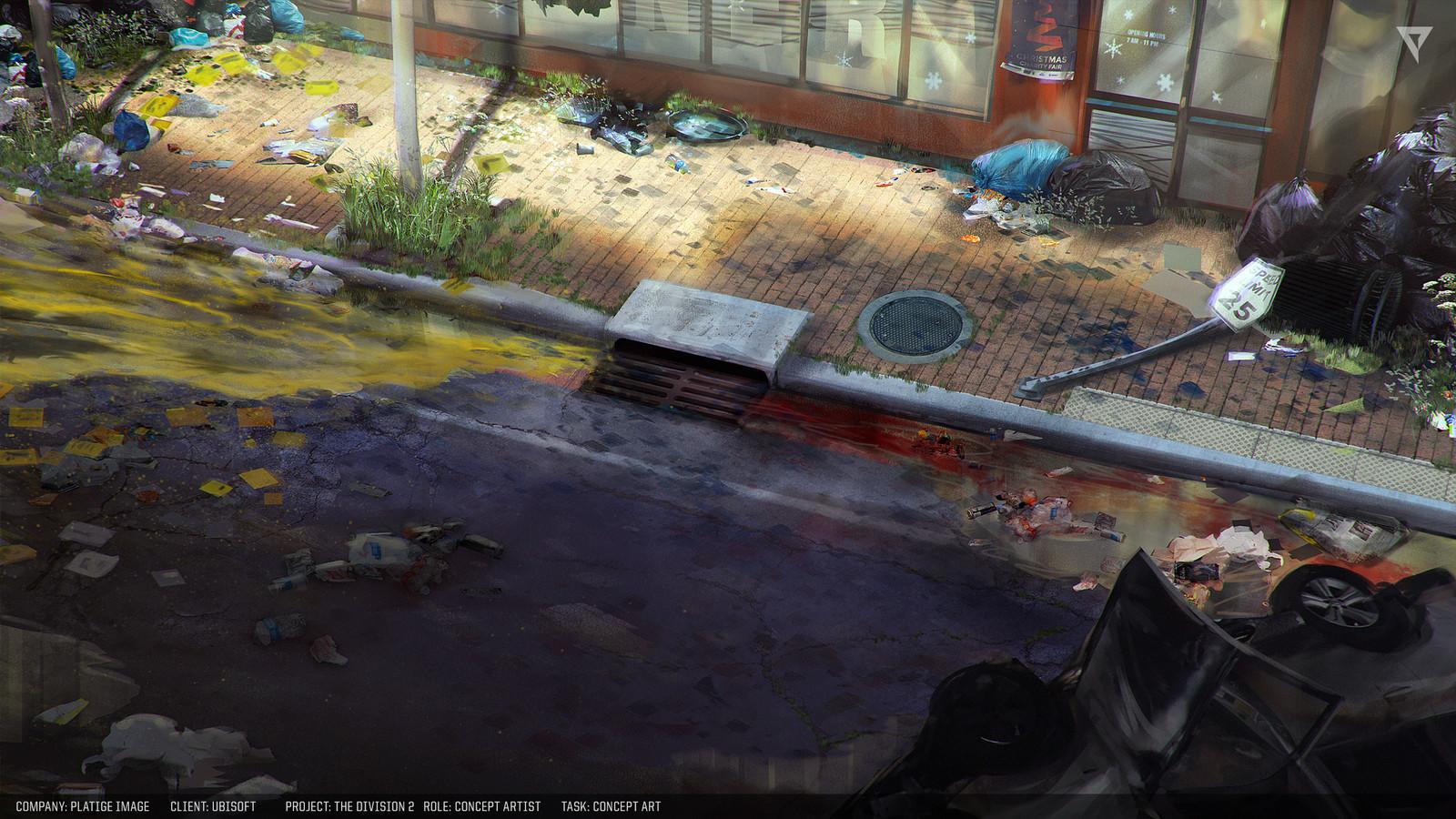 Street drain concept.