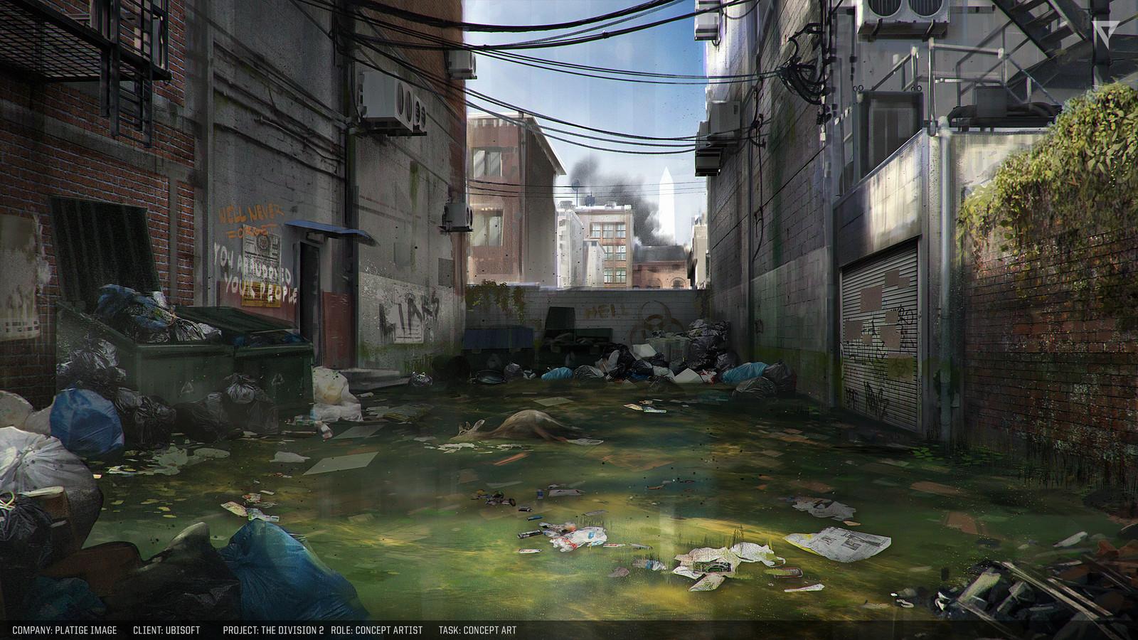 Back alley concept.