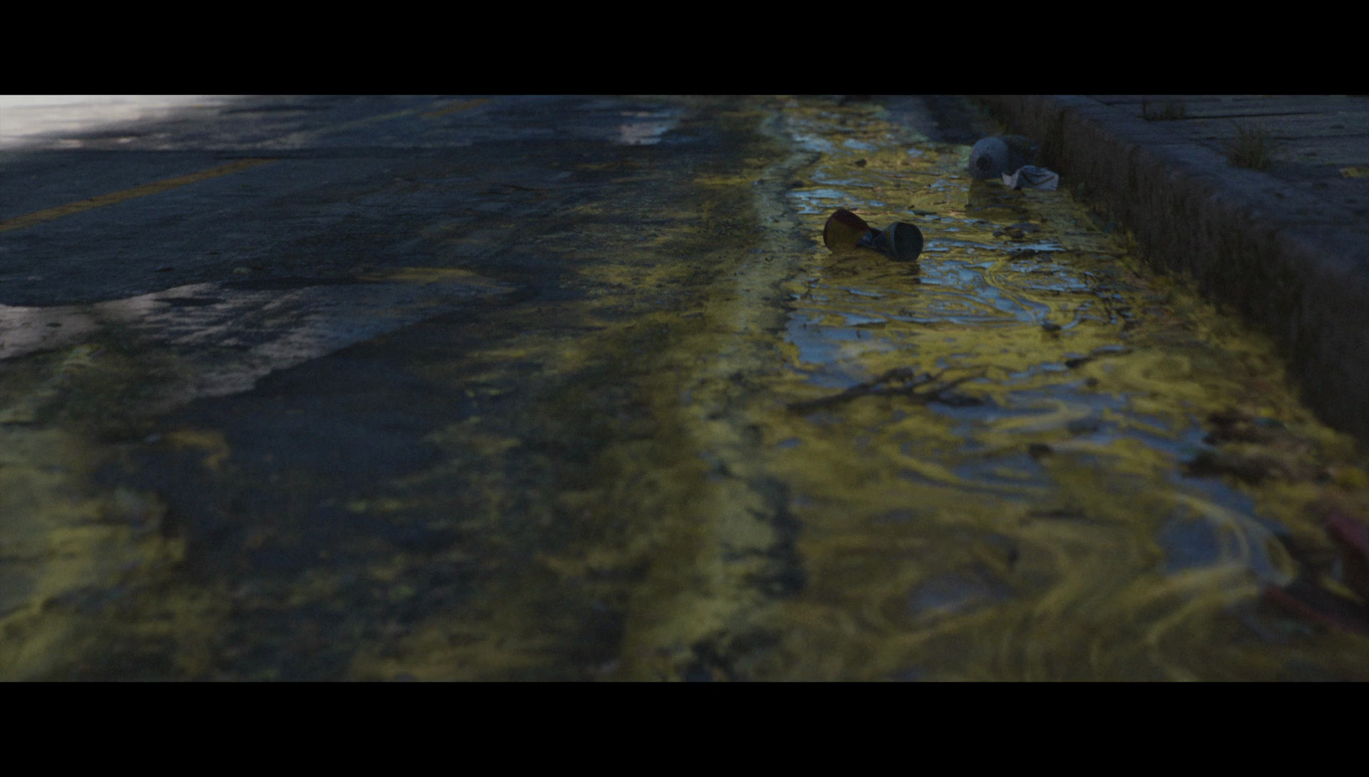 Yellow drain, screenshot from cinematic, beside the concept I was responsible for creating a texture mask of the main flow.