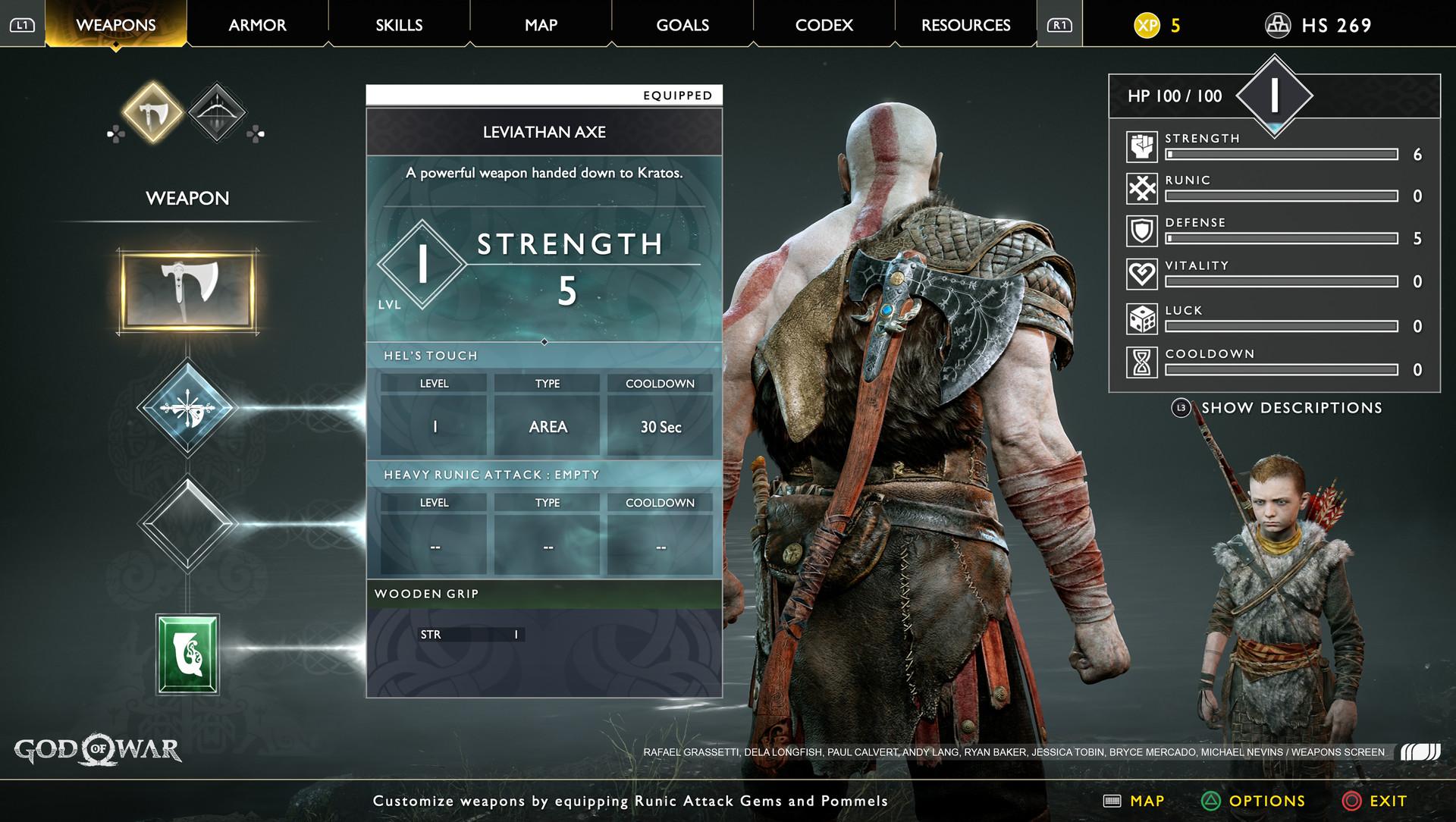 Image result for god of war UI
