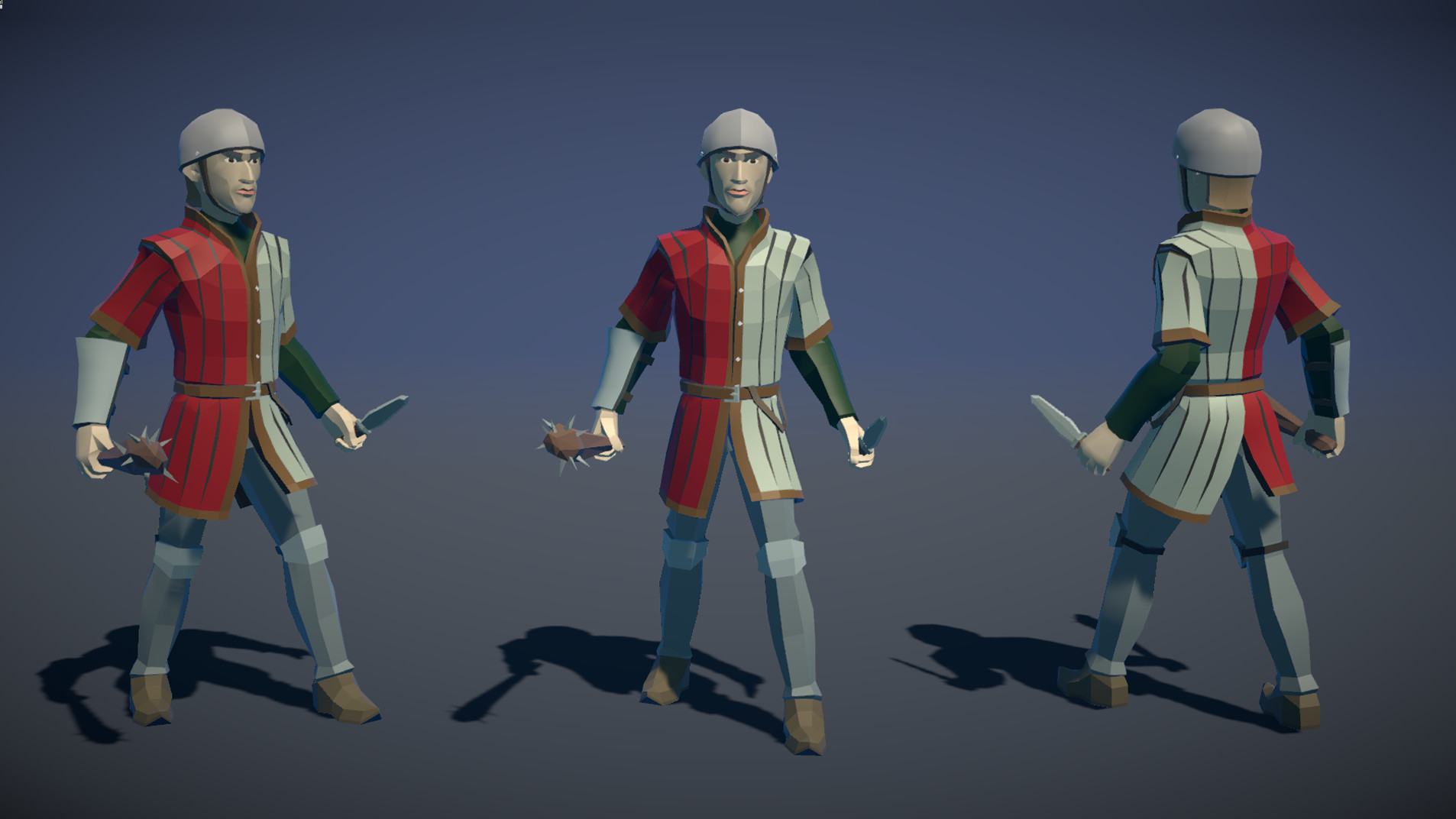 Polytope studio pt medieval lowpoly characters militia 02