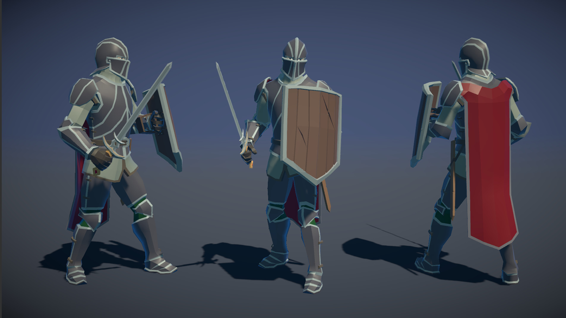 Polytope studio pt medieval lowpoly characters knight 01