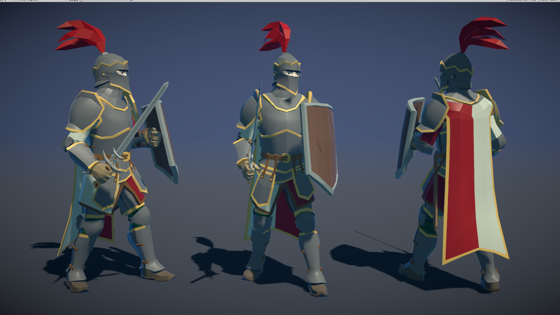 Polytope studio pt medieval lowpoly characters knight 02