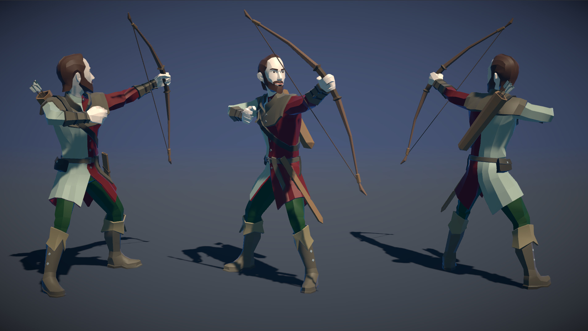 Polytope studio pt medieval lowpoly characters archer 02