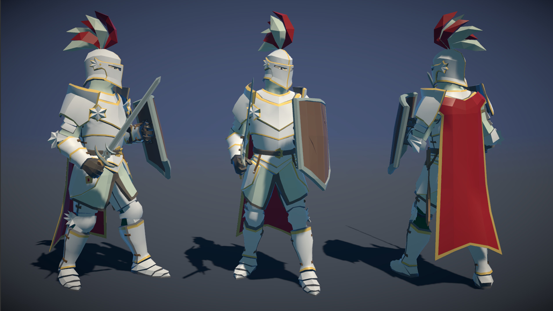 Polytope studio pt medieval lowpoly characters knight 03