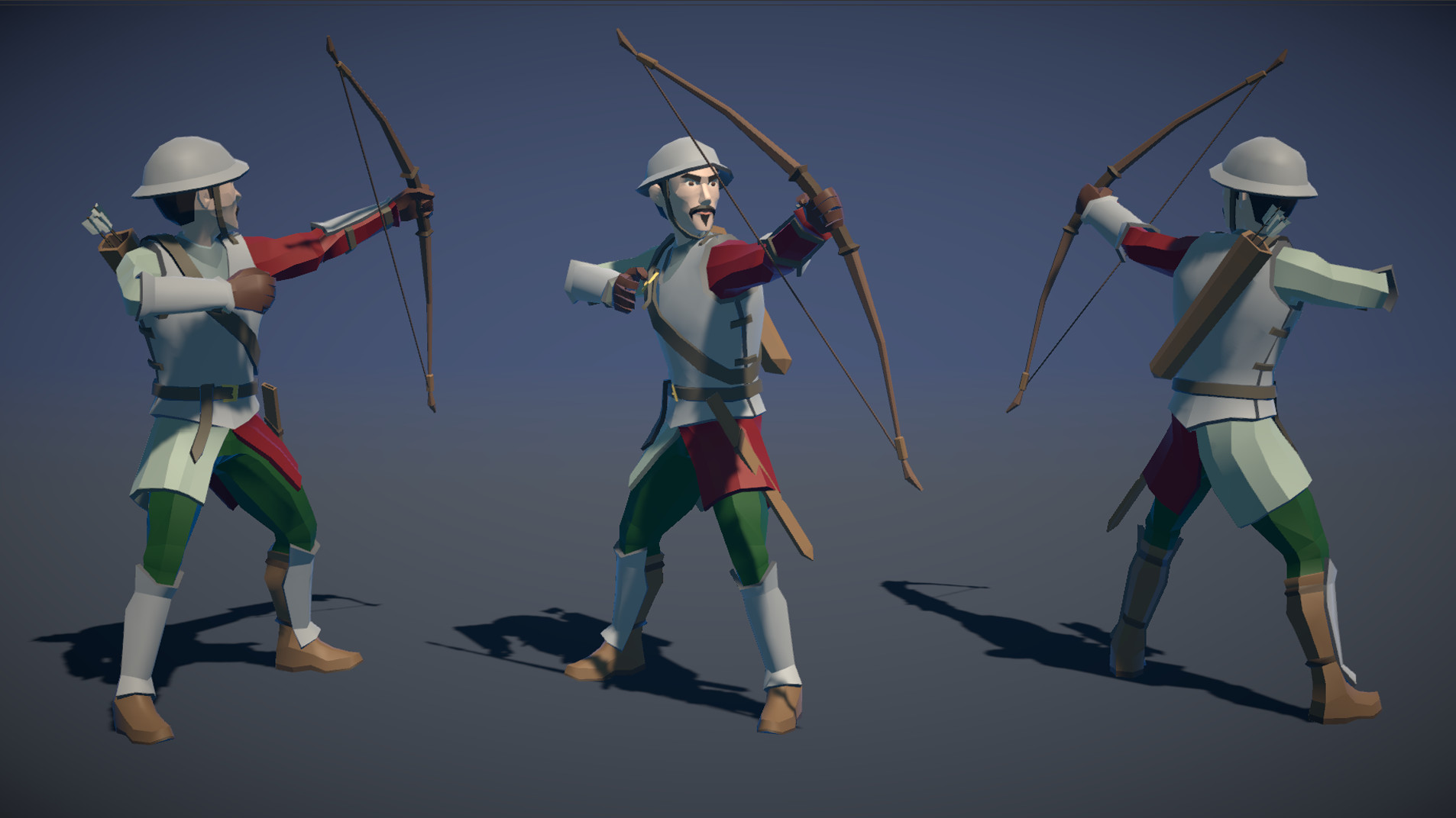 Polytope studio pt medieval lowpoly characters archer 03