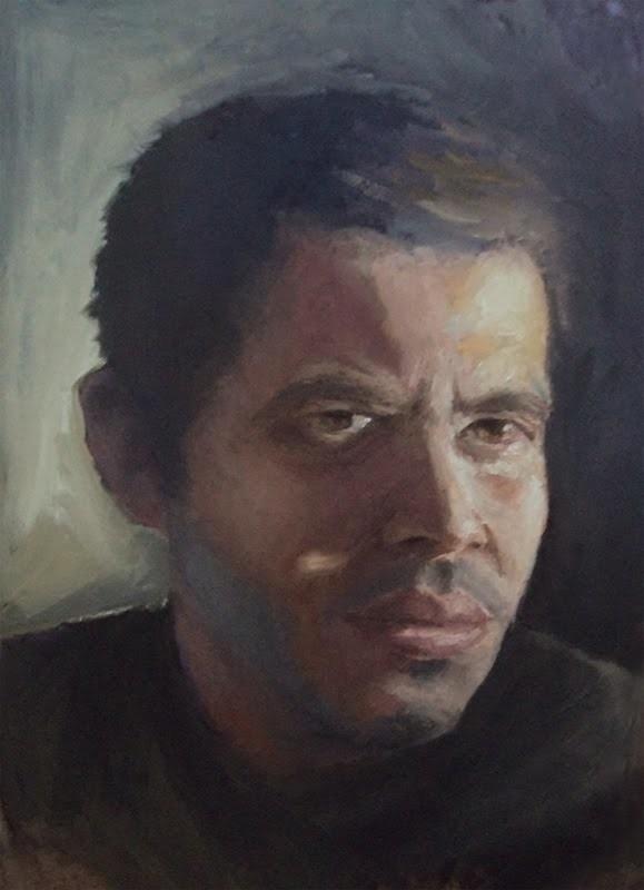 Julian vidales self portrait oil
