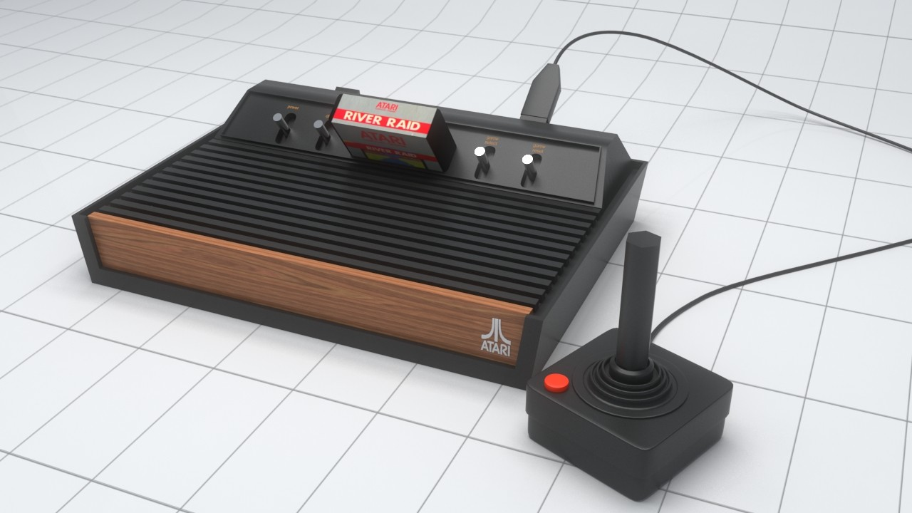 Alexandrino silva atari 3d model with control01