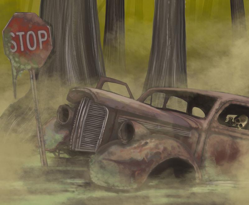 Mike johnston mike johnston ruinedworld illustration rustedswamp mag02