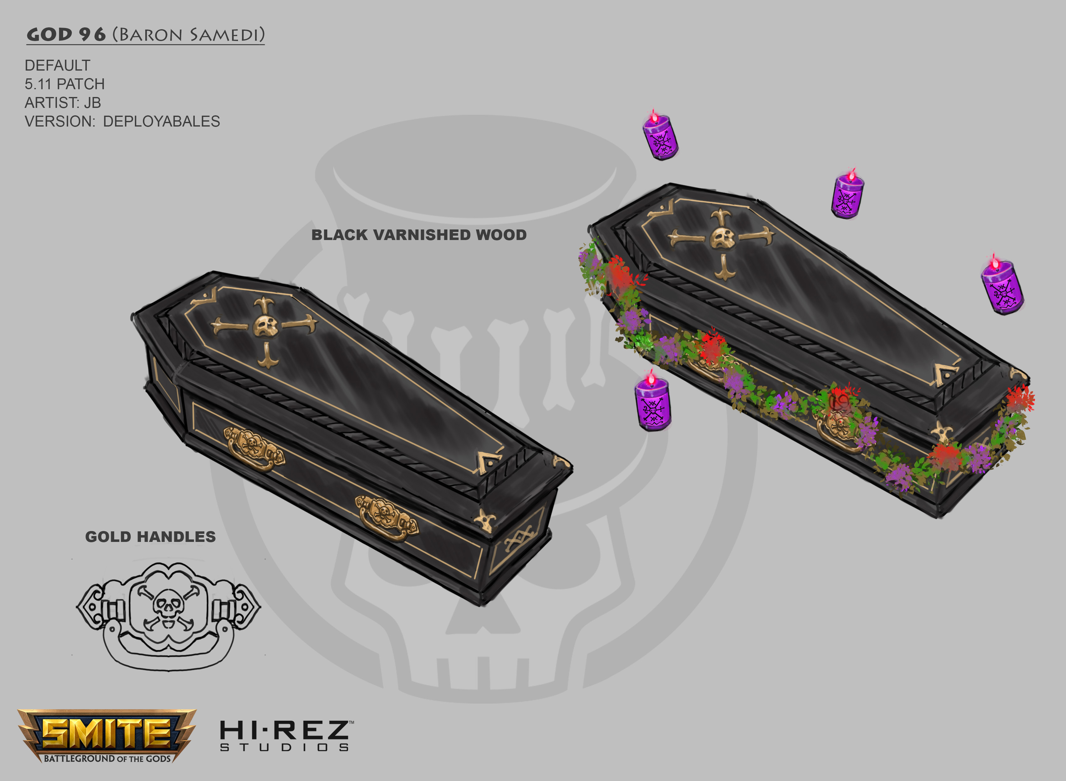 concept for the Baron's coffin deployable