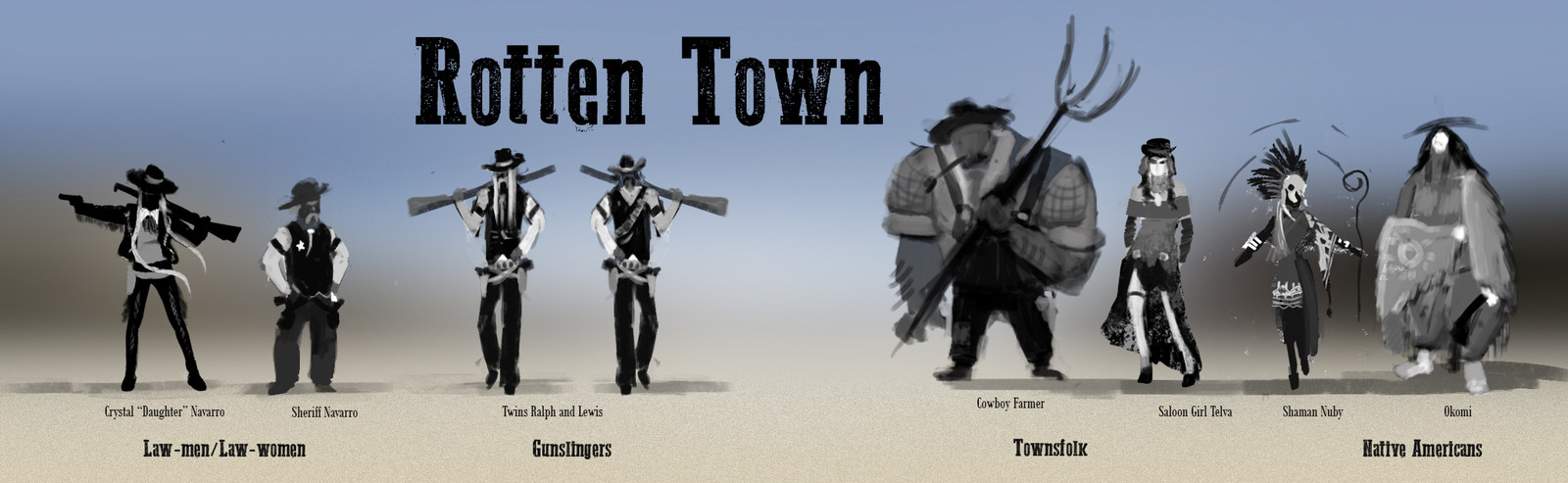 Rotten Town citizens line up
