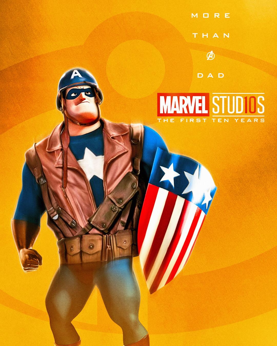 Mr. Incredible x Captain America