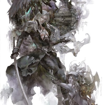 Christian angel sephiroth 100