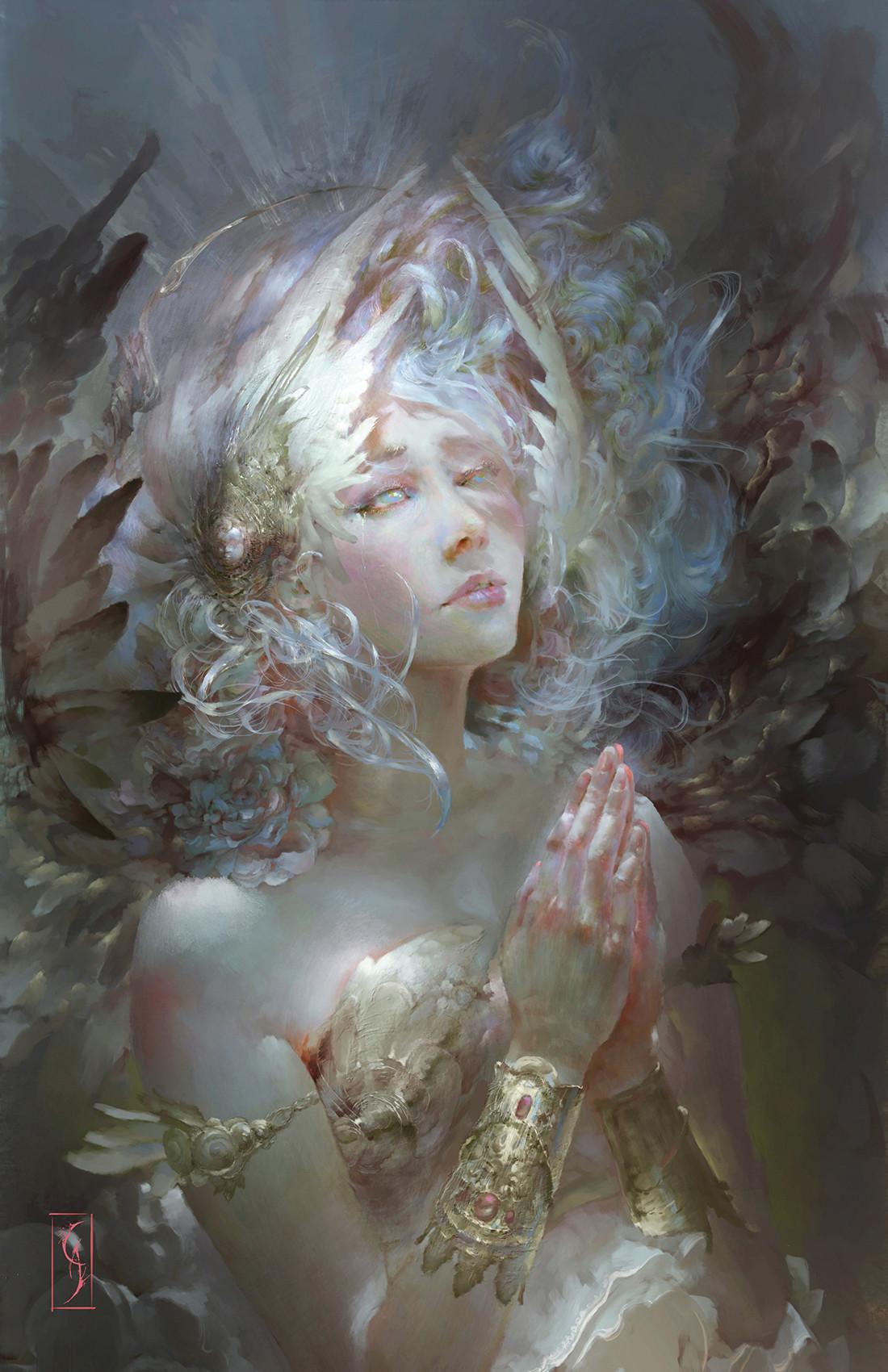 Christian angel supplication 100