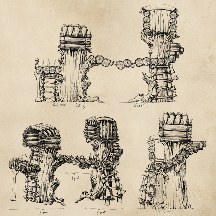 Tribal tree houses