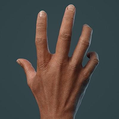 Cgmonkeyking hand sculpt textured