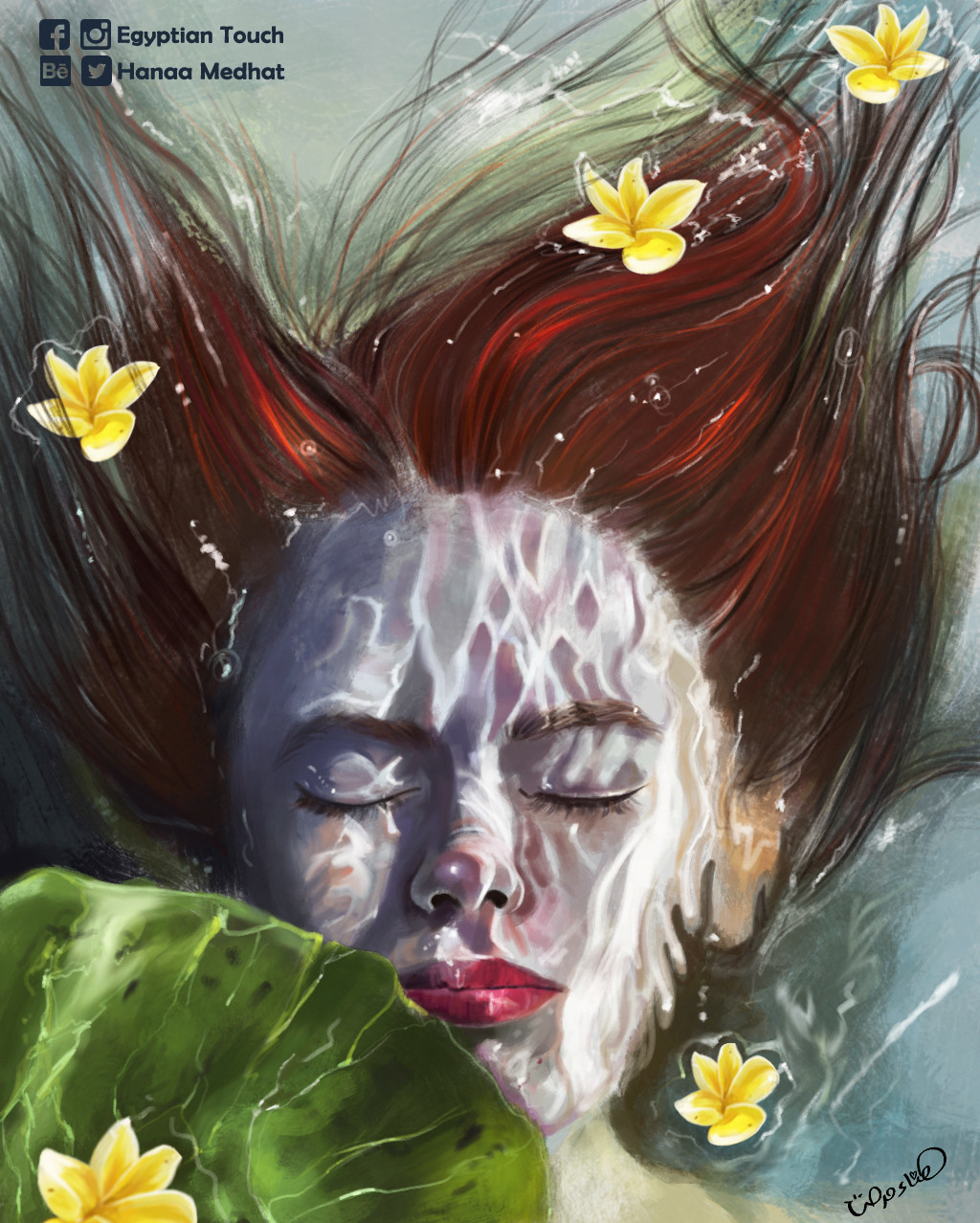 Hanaa medhat underwater