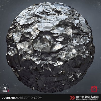 Joshua lynch metal crumpled 01 layout comp square sphere 02