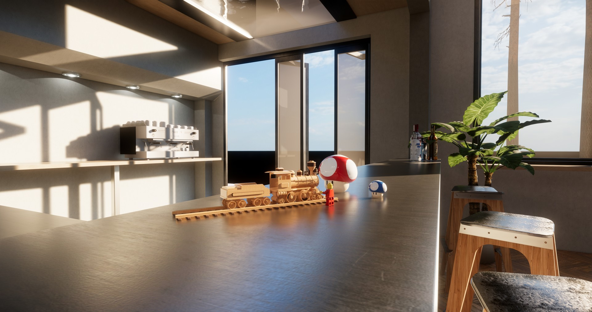 ArtStation - Quirky Library / Dining Room (Personal Project) , Hans