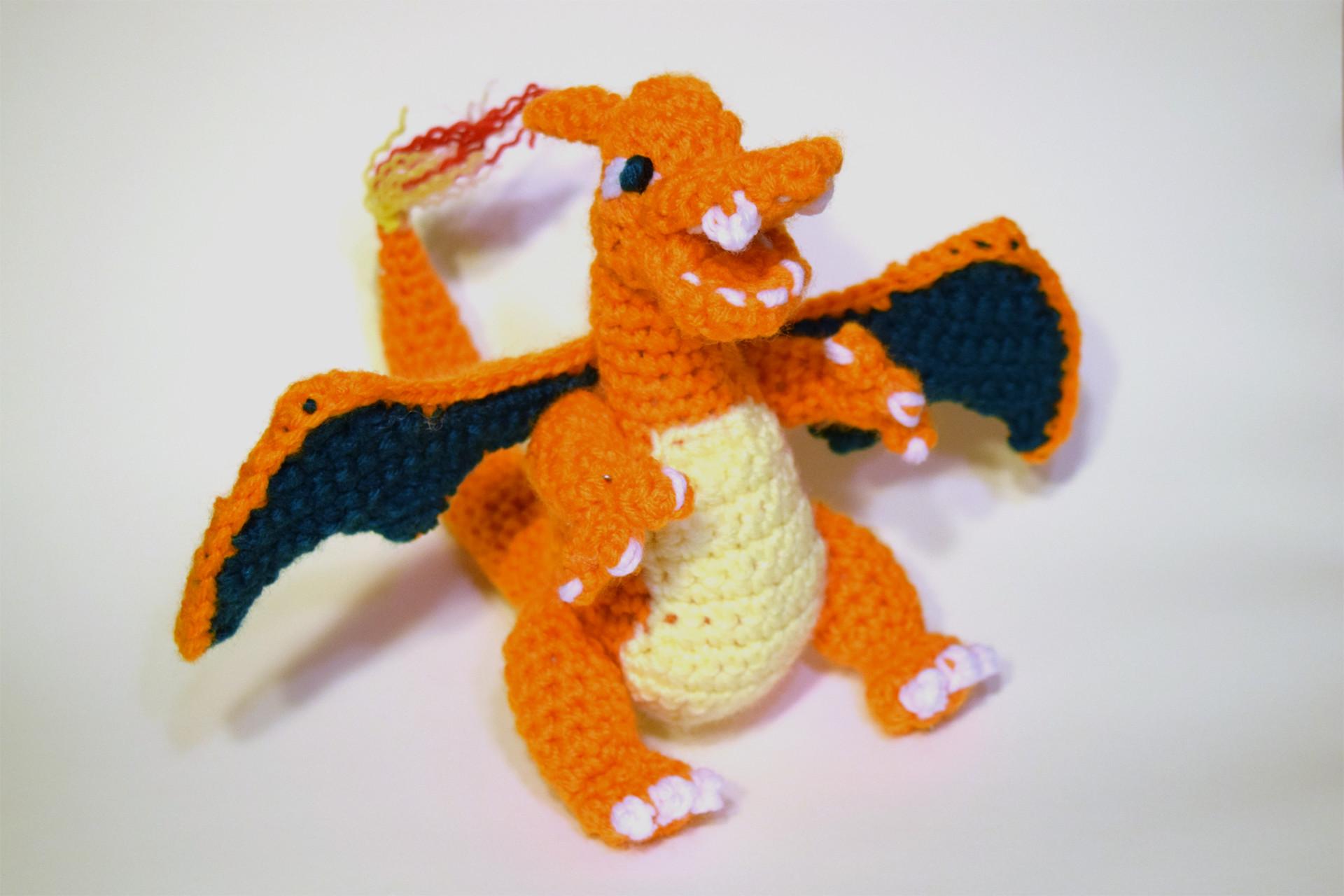 Hand-made Crochet Pokemon Charizard Amigurumi Look-alike | Etsy | 1280x1920