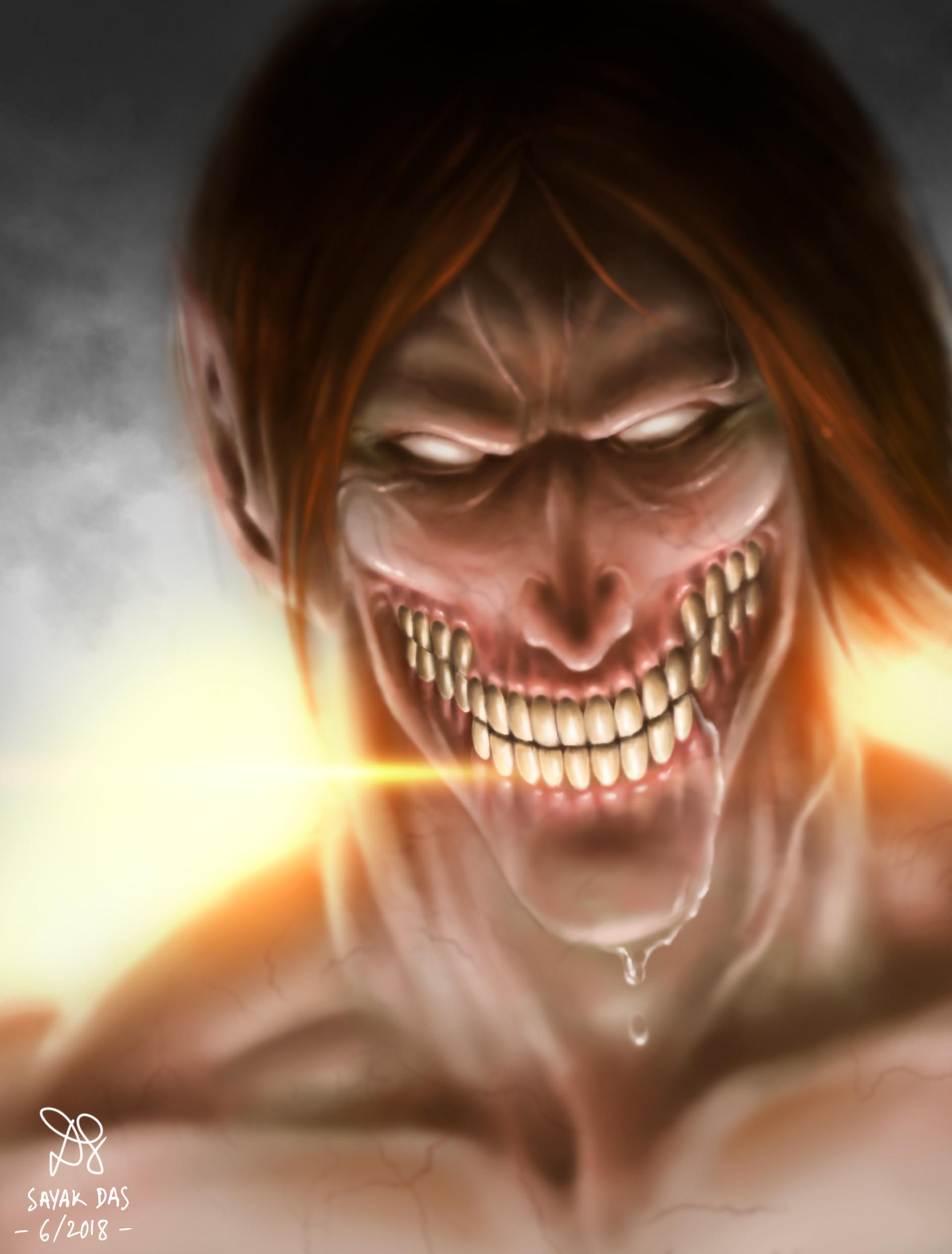 Artstation A Nightmare In Daylight Eren Yeager Titan Form Sayak Das