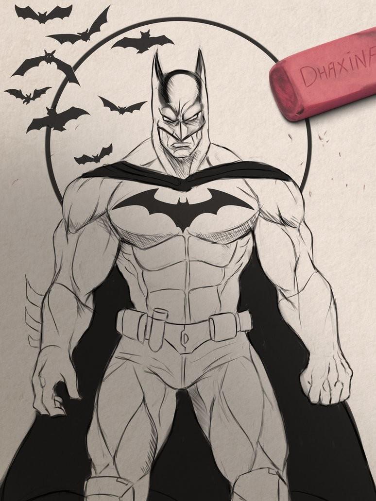 Batman (Digital sketch) :D