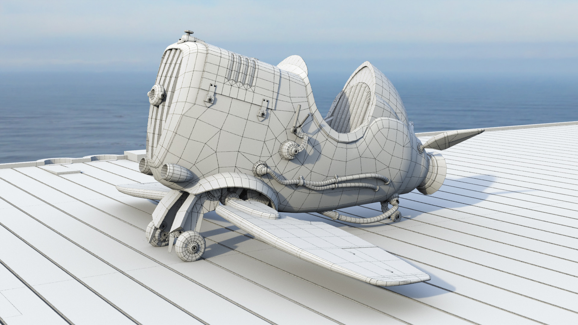 John griffiths seaplane wireframe 01