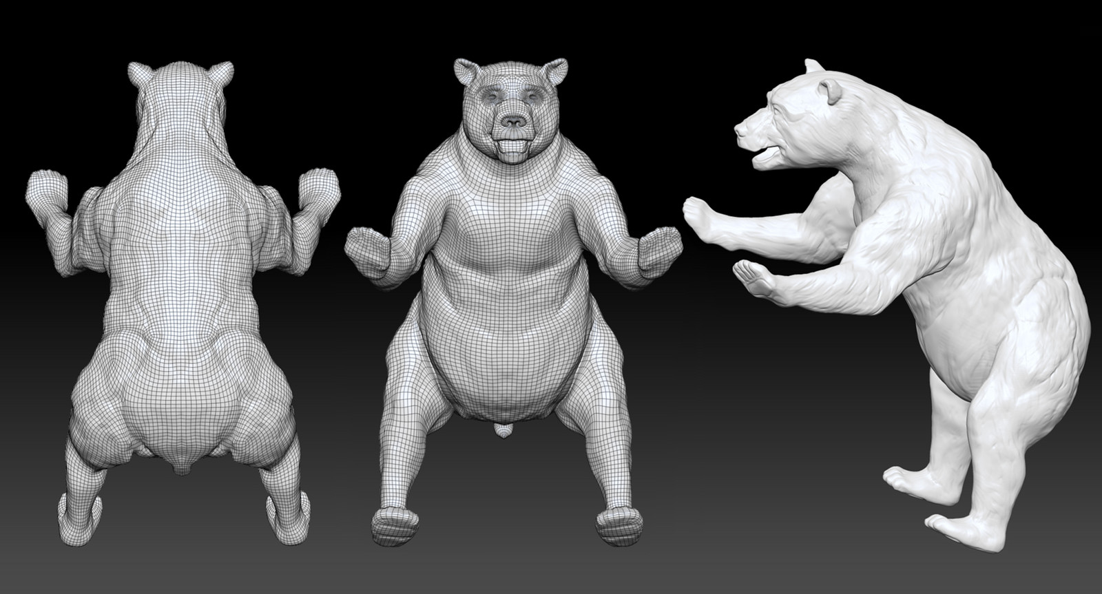ZBrush sculpt with clean topology.