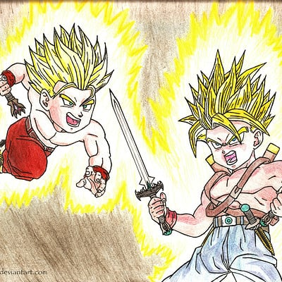 David g dbz fanart by mangx