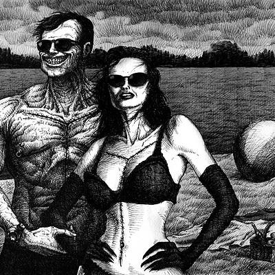 Igor myszkiewicz wakacje tusz 30x40 cm