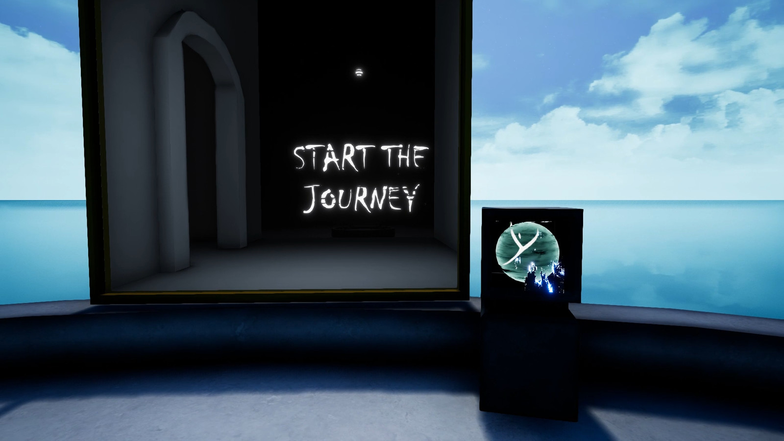 The game is about resolving puzzles using physical objects