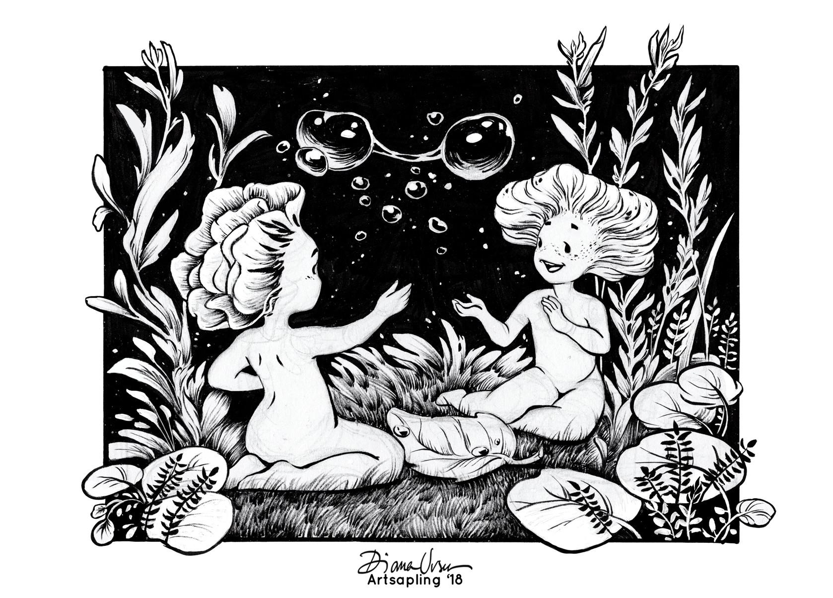 Diana ursu leaf spo ink by artsapling