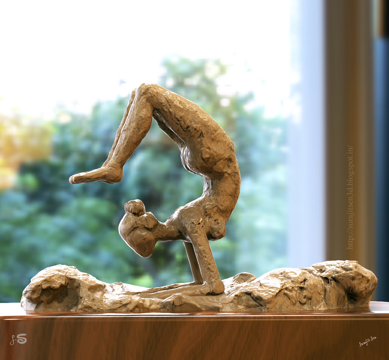 International Yoga Day 2018.  I created this rough sculpt for International Yoga day 2018. Let's celebrate this unique Day in an Artistic  way.