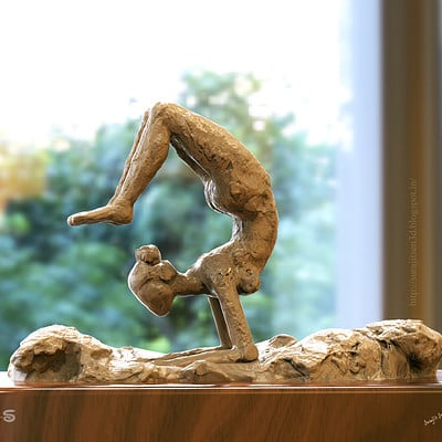 Surajit sen yoga day sculpt by surajitsen india a