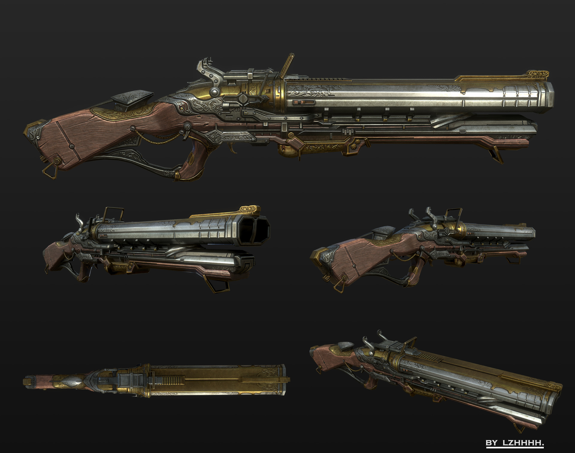 ArtStation - Classic firearms, luo zhenhuai