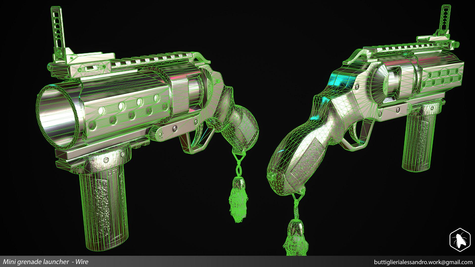 Alessandro buttiglieri mini grenade launcher wire