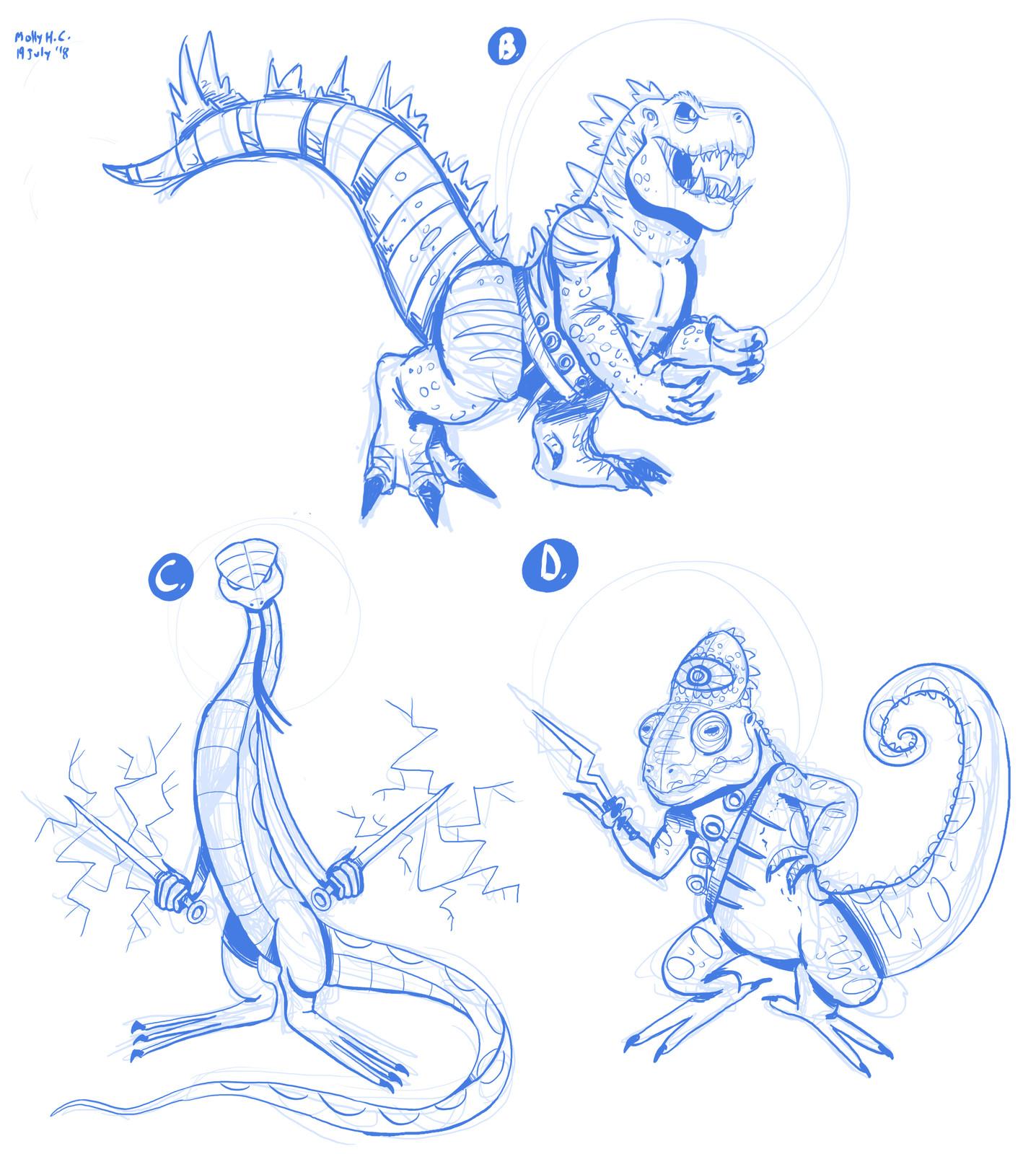 Lizardman Concept Art