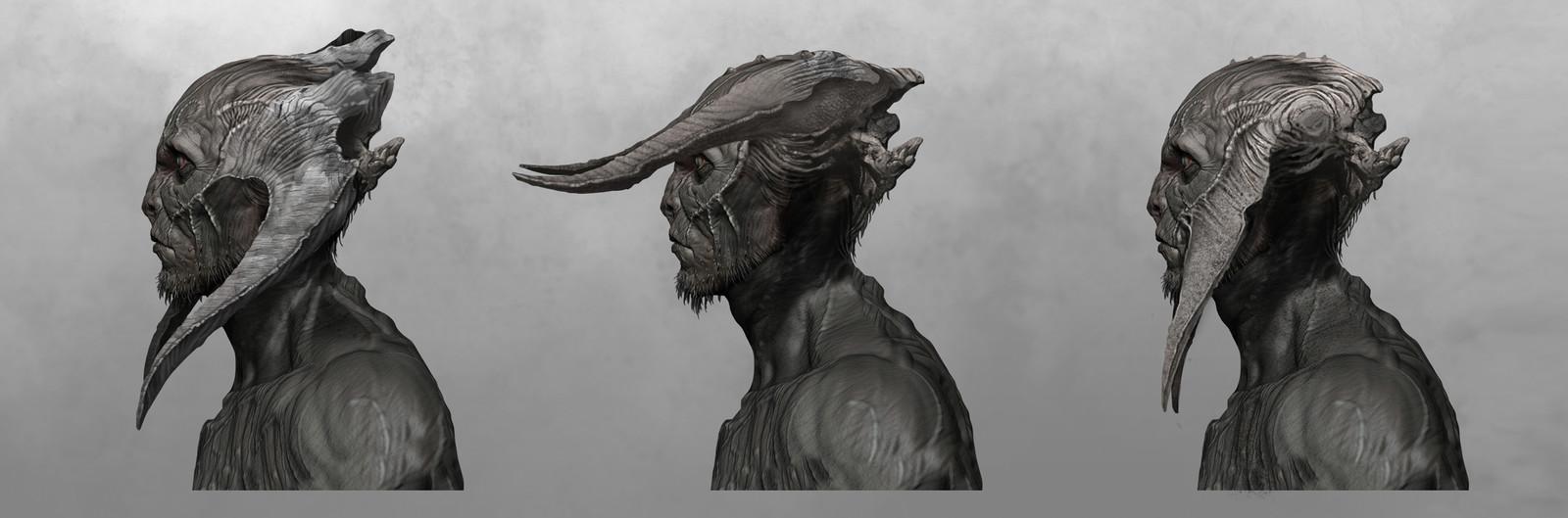 Dark Elf explorations over model done Rafael Grassetti