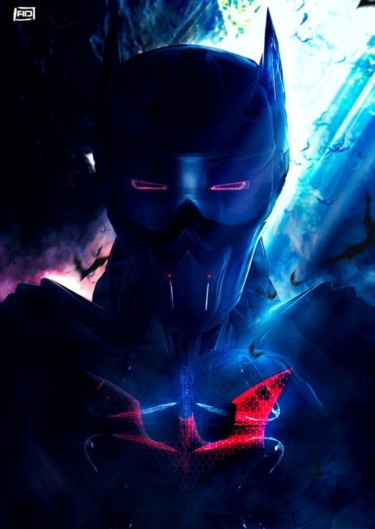 """Batman Beyond"" FanArt (photo-bashing)"