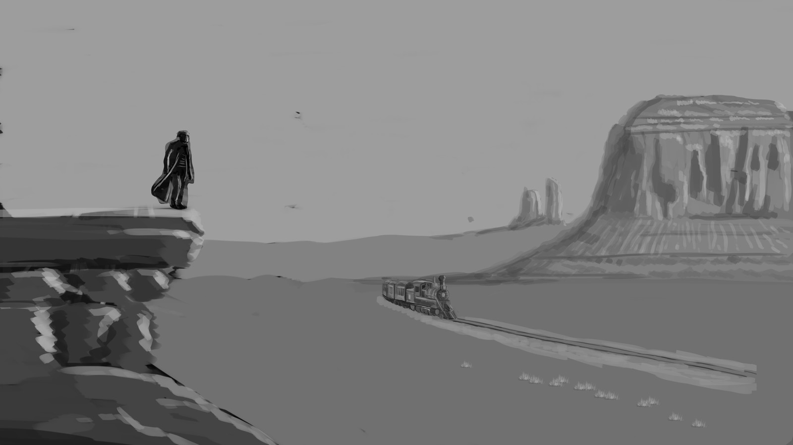 b&w scene, early preview