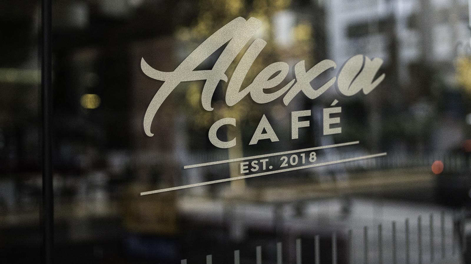 Alexa Cafè mockup
