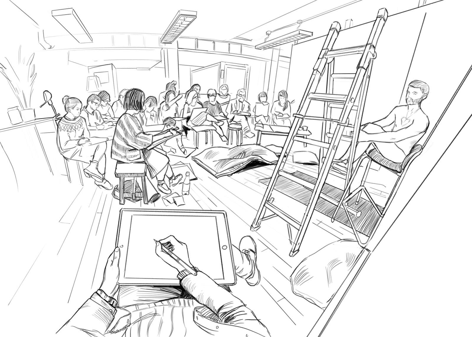 Joseph nickson life drawing