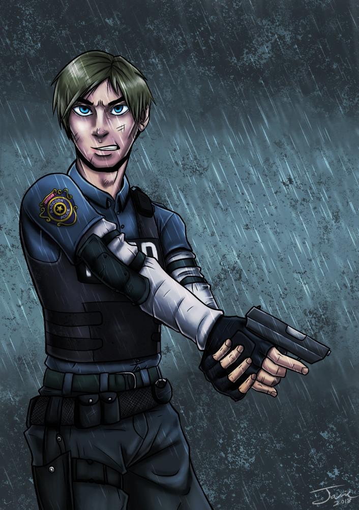 Artstation Resident Evil 2 Remake Leon Jamie Mariscal