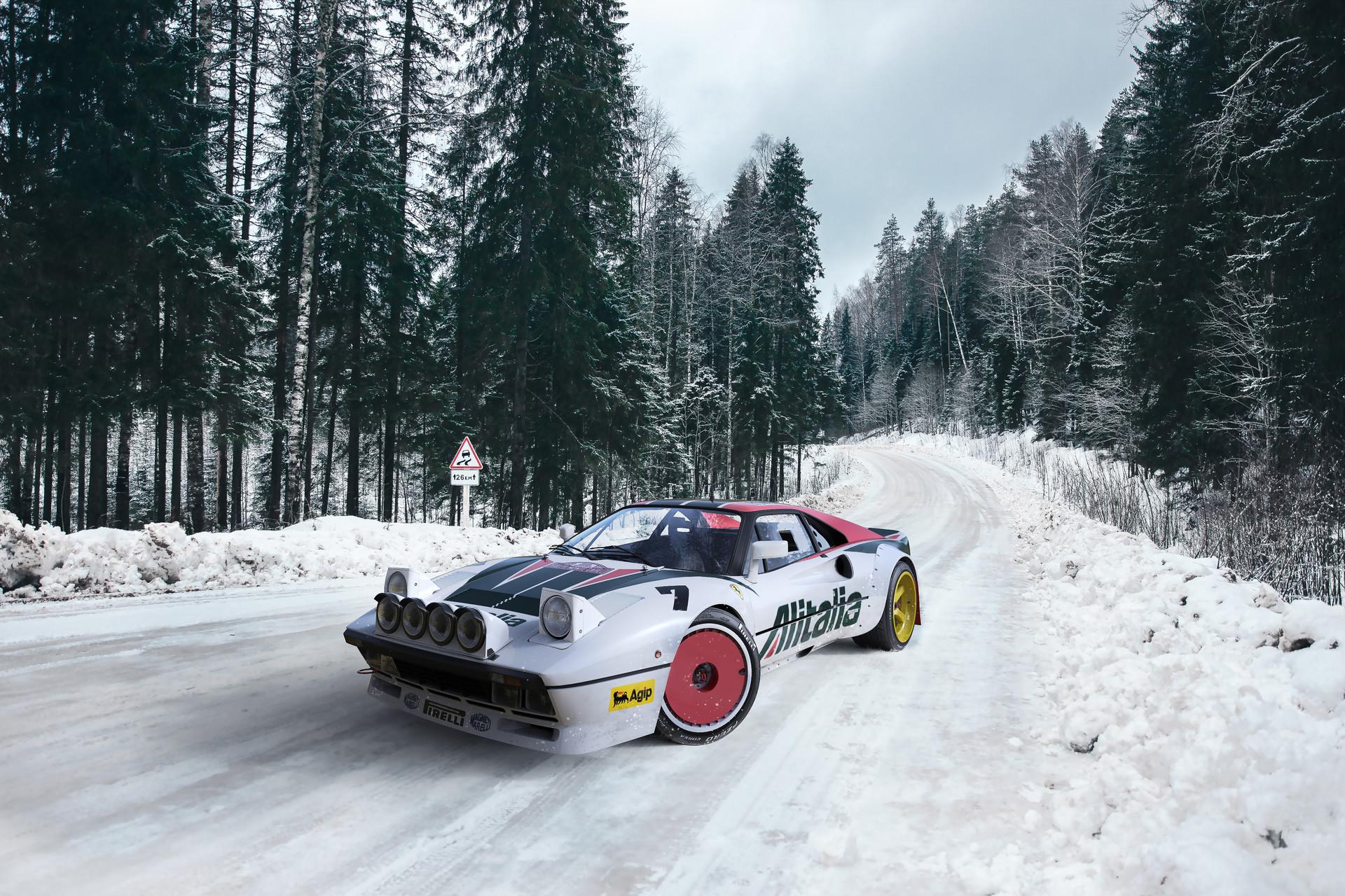 ArtStation , Ferrari GTO 288 Rally Concept, Federico Zimbaldi