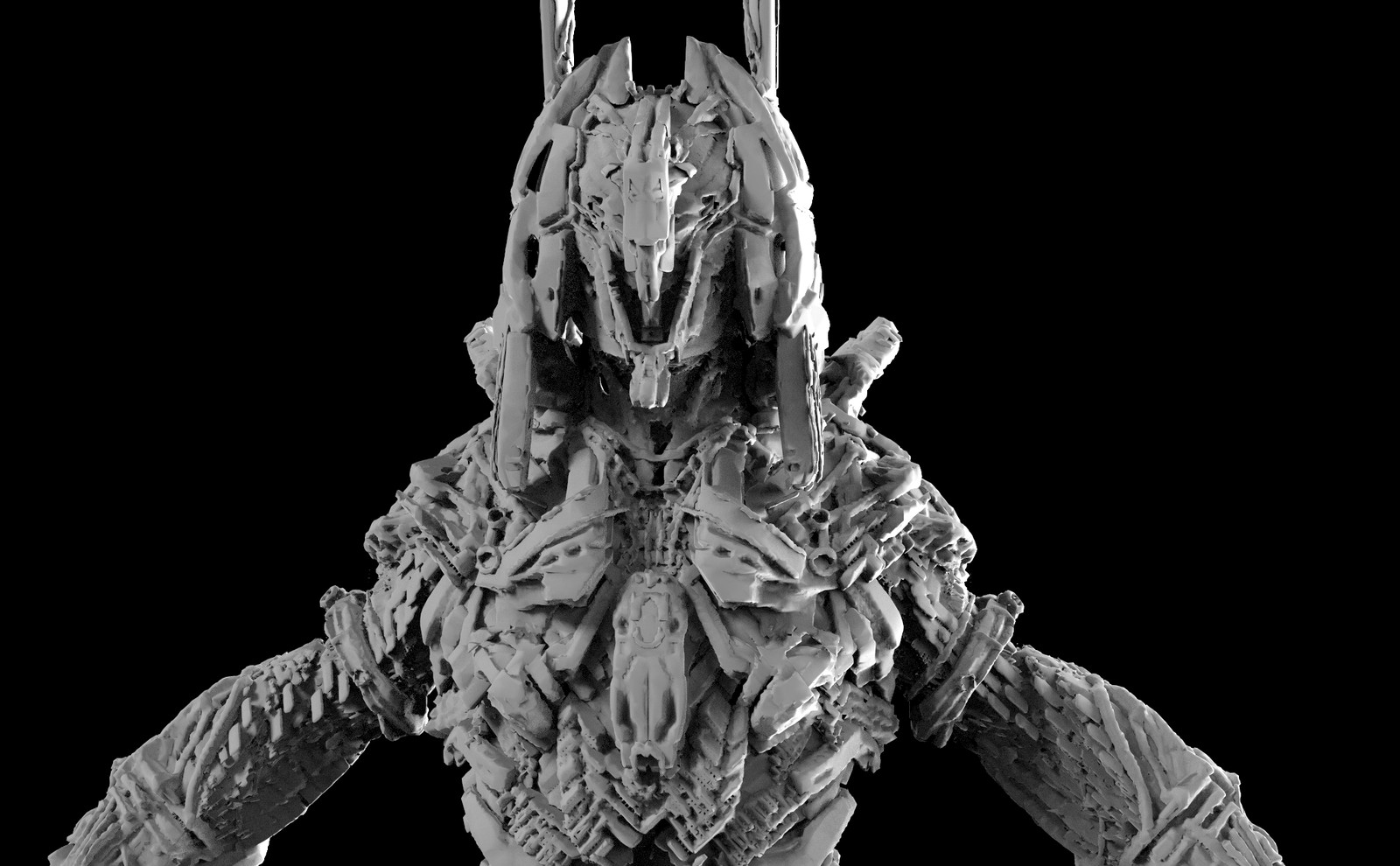 Mech Anubis 3D Coat sketch concept