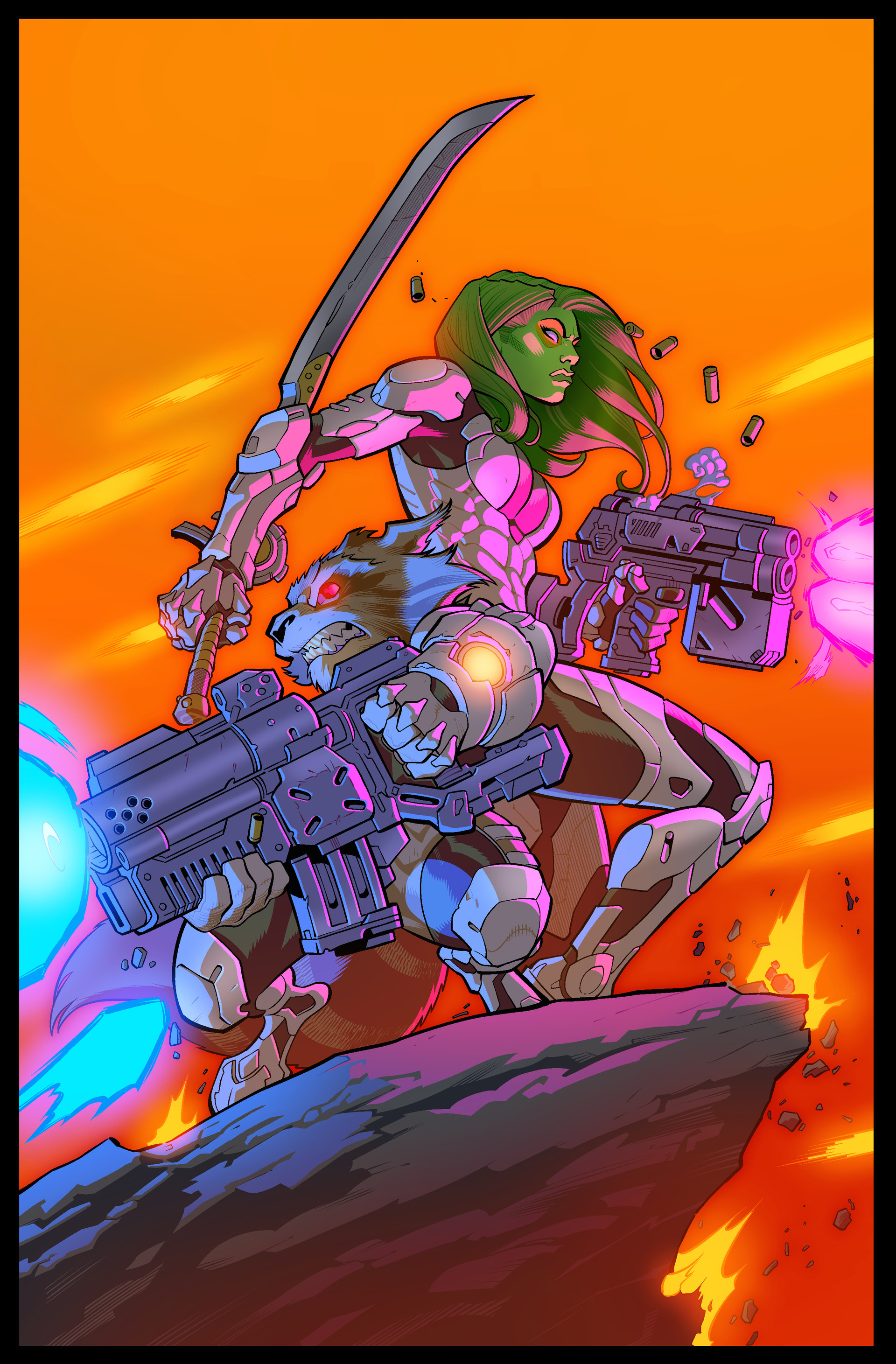 Tom martin joe madureira guardians gamora rocket