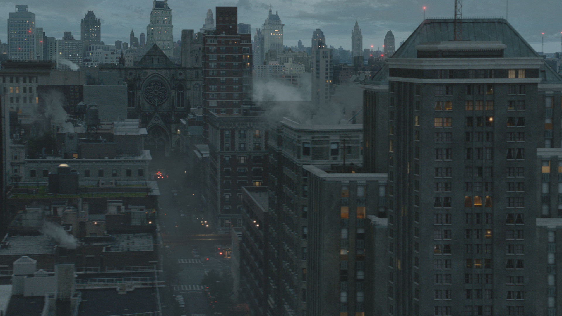 Gotham: Cityscape - Far BG and Sky Photoshop