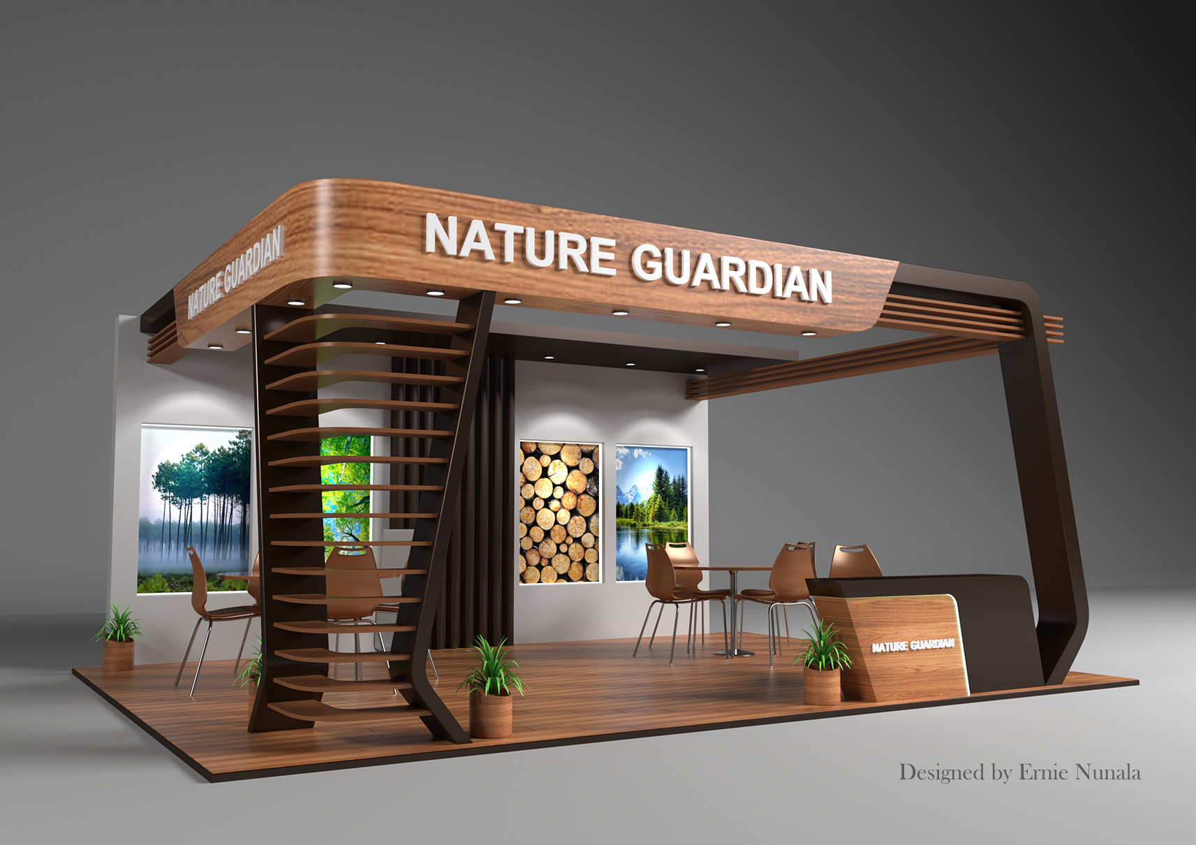 Exhibition Booth Design Concept : Artstation exhibition booth design ernie nunala